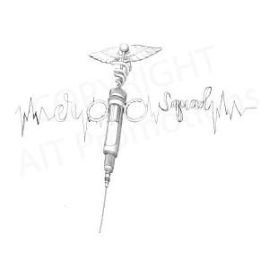Syringe line art