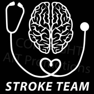 Black and white brain with stethoscope